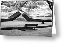Time Sculpture - Infrared Greeting Card