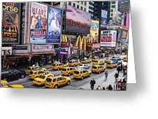 Time Square On A Week Day Greeting Card