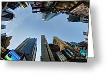 Time Square Sky View Greeting Card