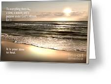 Time To Heal Greeting Card by Jeffery Fagan