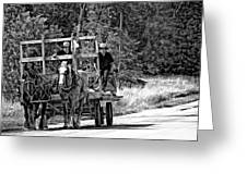 Time Travelers Bw Greeting Card