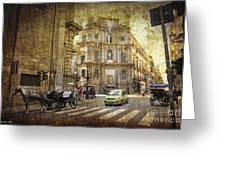 Time Traveling In Palermo - Sicily Greeting Card by Madeline Ellis