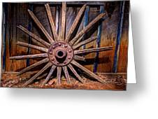 Time Worn Wheel Greeting Card