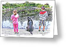 Timeless Activities - Trouting - Children - Summer Fun Greeting Card