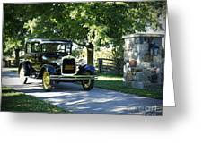 Timeless Beauty Vintage Model A Ford Tudor  Greeting Card