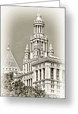 Timeless- New York City Hall Greeting Card