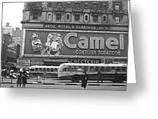 Times Square Advertising Greeting Card