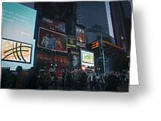 Times Square At Night Greeting Card