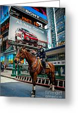 Times Square Horse Power Greeting Card