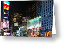 Times Square In 2010 Greeting Card