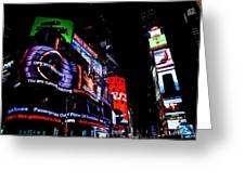Times Square Lights Greeting Card