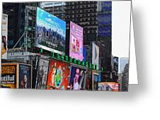 Times Square - Looking South Greeting Card