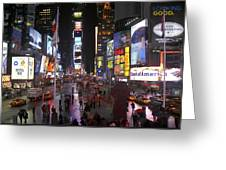 Times Square Greeting Card by Mike McGlothlen