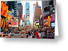 Times Square - New York City Greeting Card