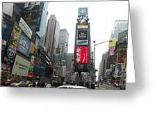 Times Square Greeting Card by Georgia Fowler