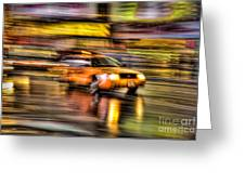 Times Square Taxi I Greeting Card