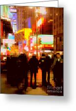 Times Square - The Lights Of New York Greeting Card