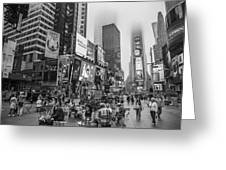 Times Square With Fog Greeting Card