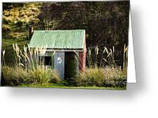 Tin Hut Greeting Card