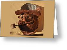 Tin Man With Pipe Greeting Card