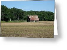 Tin Roofed Barn  Greeting Card