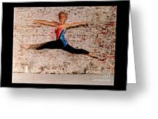 Shelly Ballet Jump Greeting Card