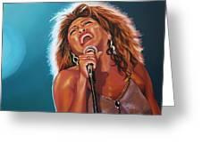Tina Turner 3 Greeting Card