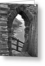 Tintagel Portal 1 Greeting Card
