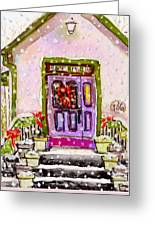 Tiny Purple Church In The Woods Greeting Card