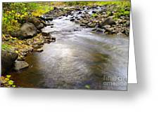 Tiny Rapids At The Bend  Greeting Card