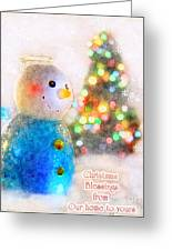 Tiny Snowman Christmas Card Greeting Card
