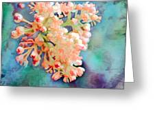 Tiny Spring Tree Blooms - Digital Color Change And Paint Greeting Card