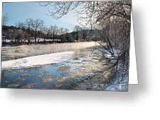 Tioughnioga River Landscape Greeting Card
