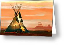 Tipi Or Tepee Monument Valley Greeting Card