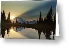 Tipsoo Rainier Sunstar Greeting Card