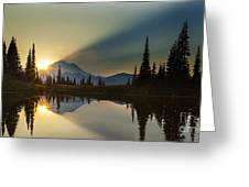 Tipsoo Rainier Sunstar Greeting Card