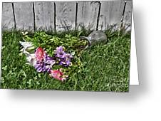 Tipsy Flowers Greeting Card