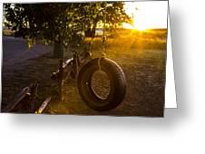 Tire Swing Greeting Card