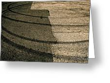 Tire Traces Beige Greeting Card