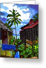 Tiririca Beach Shacks Greeting Card