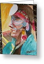 Water Healing Ceremonial Chief Yaz  Greeting Card