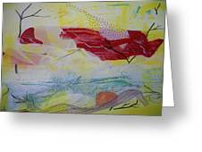 Tissue Paper Abstract 114 Greeting Card