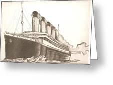 Titanic Drawing Greeting Card