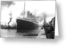 Titanic In Southampton Harbor Greeting Card
