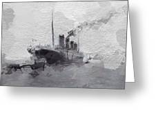 Titanic Leaving Southhampton Greeting Card