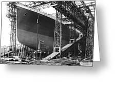 Titanic Under Construction Greeting Card