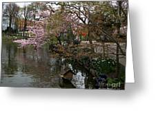 Tivoli Lake In Spring Greeting Card