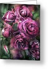 To Be Loved - Mauve Rose Greeting Card