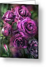 To Be Loved - Purple Rose Greeting Card