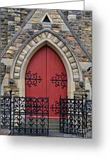 Red Door To Heavens Gates Greeting Card